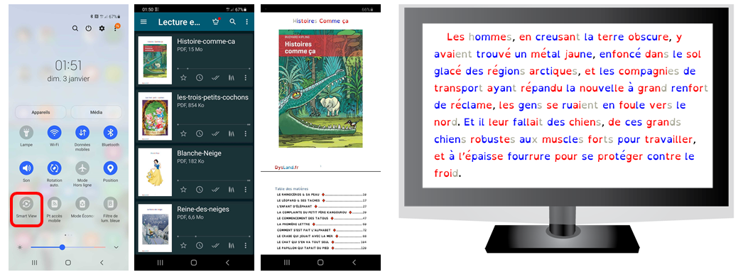 Dyslexique - Lecture TV & Mobile